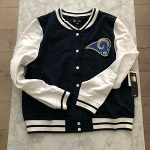 NFL Rams Sequin Varsity Jacket *NEW*